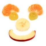 banta lyckliga frukter arkivbild