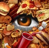 Banta matövervakning vektor illustrationer