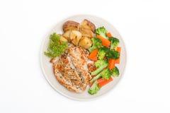 Banta mat, rengöringen som äter, frukost Fotografering för Bildbyråer