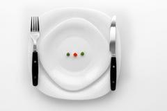 Banta matställen som är klar att äta arkivbild