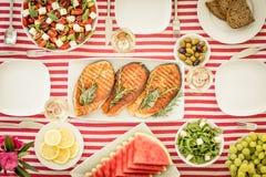 banta medelhavs- äta för begrepp som är sunt royaltyfria foton