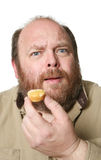 banta muffinen Arkivfoto