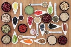 Banta och mat för viktförlust Royaltyfri Fotografi