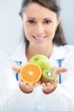 Banta och sund mat Fotografering för Bildbyråer