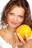banta orangen royaltyfria bilder