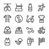 Banta planet, sportar kompletterar, n?ringsymboler royaltyfri illustrationer