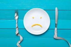 Banta, sund mat och viktförlust Arkivbild