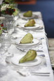 banta vatten för bandet för tabellen för det glass måttet för maträtten set Royaltyfri Fotografi