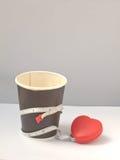 Banta vid kaffe Arkivbilder