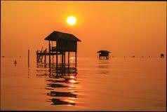 BantaboonBantaboon, nascer do sol, por do sol, fundo, natural, natureza, mar, Tailândia, água fotografia de stock royalty free