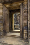 Bantaey Srei doorway Royalty Free Stock Photos