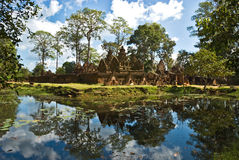 Banteai Srei Temple, Cambodia. Royalty Free Stock Images