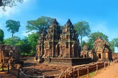 Banteai Srei temple the temple of women Angkor wat Siem Reap Cambodia Stock Image