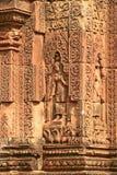 banteay женщины srei цитадели Камбоджи Стоковая Фотография