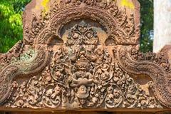 banteay cambodia för angkor srei Arkivbild