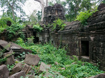 Banteay Chhmar寺庙在柬埔寨 免版税库存照片