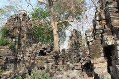 Banteay Chhmar tempel cambodia Banteay Meanchey landskap Sisophon Sity Fotografering för Bildbyråer