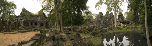 Banteay Kdei tempel, Angkor Wat, Cambodja Royaltyfria Bilder