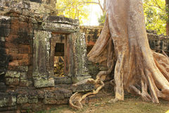 Banteay Kdei temple, Angkor area, Siem Reap, Cambodia Royalty Free Stock Images