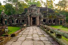 Banteay kdei temple, Angkor,  Siem Reap,  Cambodia. Stock Photo