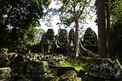 Banteay Kdei, temple de Banteay Kdey images libres de droits