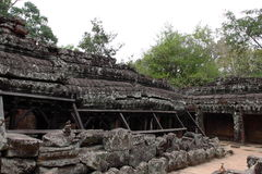 Banteay Kedi寺庙在吴哥 库存照片