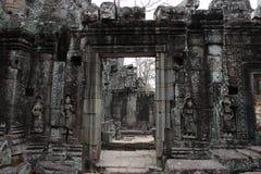 Banteay Kedi tempel i Angkor Royaltyfri Bild