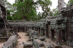 Banteay Kedi tempel i Angkor Arkivbild