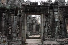 Banteay Kedi Temple in Angkor Royalty Free Stock Image