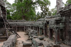 Banteay Kedi Temple in Angkor. Siem Reap, Cambodia Stock Photography