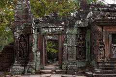 Banteay Kedi Temple in Angkor Royalty Free Stock Photo