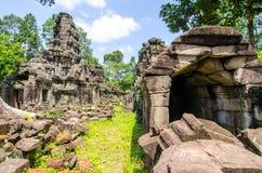 Banteay Preah, Angkor Wat Cambodia Day blå himmel Royaltyfri Bild