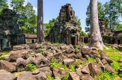 Banteay Prei ruins, stone day historic landmark Royalty Free Stock Photo