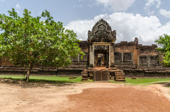 Banteay Samre Day blue sky brown orange floor Stock Images