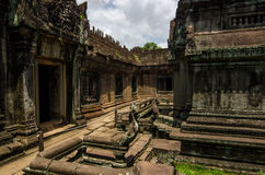 Banteay Samre Day blue sky brown orange floor, stone architecture Stock Photography