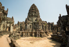 Banteay Samre Panorama. View inside the wallas without tourist Royalty Free Stock Photos