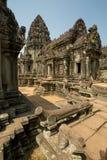 Banteay Samse con tutti i dettagli Fotografia Stock