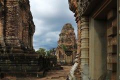 Banteay Srei印度寺庙柬埔寨 图库摄影