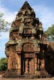 Banteay Srei寺庙北部图书馆 图库摄影