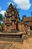 Banteay Srei寺庙暹粒复合体柬埔寨 免版税库存照片