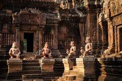 Banteay Srei寺庙 免版税库存图片