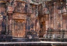 Banteay Srei寺庙 免版税图库摄影