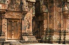 Banteay Srei寺庙,吴哥窟 库存照片