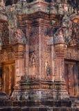 Banteay Srei寺庙 库存照片