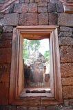 Banteay Srei少校寺庙 免版税库存照片