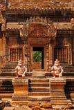 Banteay Srei,吴哥窟,柬埔寨 免版税库存图片
