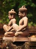 Banteay Srei,吴哥窟,柬埔寨 库存照片