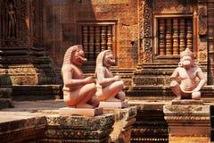 Banteay Srei,吴哥窟,柬埔寨 库存图片