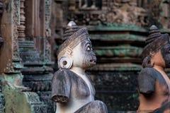 Banteay Srei индусский висок предназначенный к Shiva в Angkor, Камбодже стоковое фото