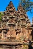 Banteay Srei塔  免版税库存图片